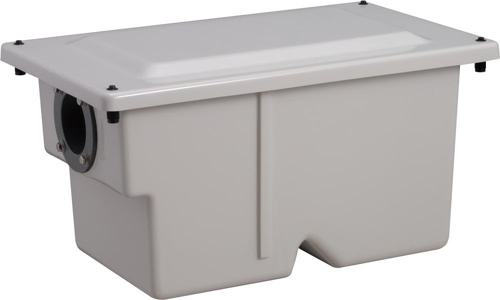 前澤化成工業 FRP製グリーストラップ 小容量床置き型(容量7L) プッシュロック式 GT-7FP