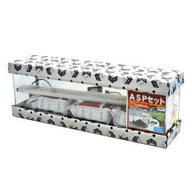 アクアシステム ASPセット シュリンプ用 クリスティスリム900LED 水槽セット 90cm 48L 薄型 超透明ガラス