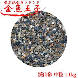 アクアシステム 金魚王子 渓山砂 中粒 1.1kg 金魚 水槽 レイアウト 砂利 用品