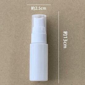(日本製)手指用消毒スプレーなどに UVカット携帯スプレー空容器(20ml)1本(パールホワイト)  UV散乱剤使用 (携帯用 スプレー)次亜塩素水 除菌剤対応/アトマイザー