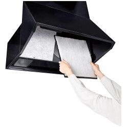 アルファミック極めて厚いレンジフードフィルター厚手約8mmホワイト縦34×横30cm交換頻度を抑える掃除の手間が省ける12枚入
