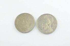 オリンピック発祥の地、ギリシャコイン(アテナとフェニックス) 20ドラクマ 硬貨 1個