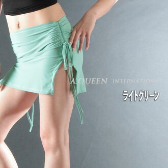 Solid color skirt slit! / v ☆ ☆ products ☆ ☆ [cosplay lingerie faux leather tight CAMI tank flare A line, Lowrise, showing bra