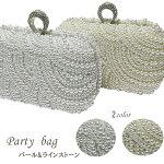 2wayパール装飾デザインがま口ミニバッグ【メール便不可】BAP11