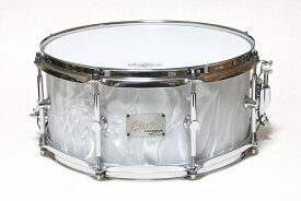 CANOPUS Birch Snare Drum BR-1465 White Satin 8ply Birch/Coverling OUTLET カノウプス カバリング バーチ スネアドラム 店頭展示アウトレット特価