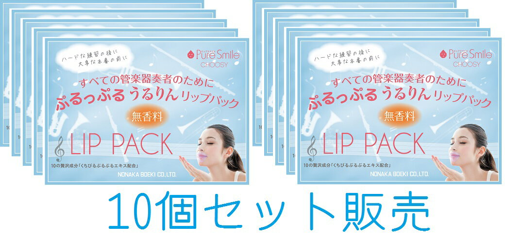 NONAKA リップパックNLP01 (1シート入り)10個 セット販売