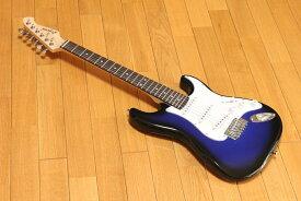 ARIA Legend LST-MINI BBS(Blue Black Sunburst)ミニエレキギター チューナープレゼント!
