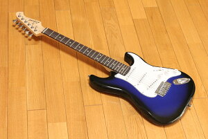 ARIA Legend LST-MINI BBS(Blue Black Sunburst) アリア ミニエレキギター チューナープレゼント! 調整しお届けします!