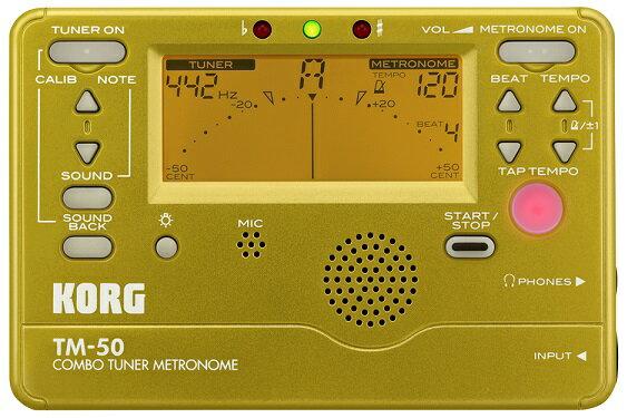 KORG DIGITAL TUNER METRONOME TM-50 GD ゴールド