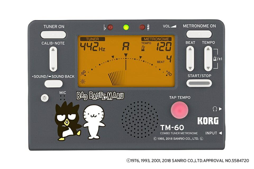 KORG COMBO TUNER METRONOME TM-60-SXO バッドばつ丸 限定モデル!