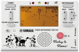 YAMAHA TDM-700DMN5 【 TDM700DMN5 】ヤマハ チューナー・メトロノーム ミッキーと仲間たち ホワイト