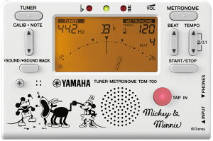 YAMAHA TDM-700DMN5 【 TDM700DMN5 】 ヤマハ チューナー・メトロノーム ミッキーと仲間たち ホワイト