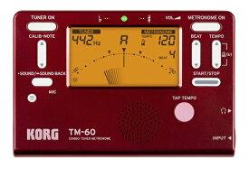 ◆限定モデル KORG TM-60 RED COMBO TUNER METRONOME コルグ チューナー&メトロノーム 限定のレッドカラー