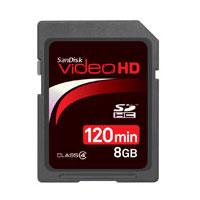 【メール便OK】【即納】SanDiskVideoHDSDHCカード8GBSDSDHV-008G-J15