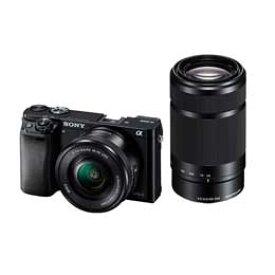 【送料無料】Sony α6000 ILCE-6000Y ダブルズームレンズキット [ブラック] デジタル一眼レフカメラ