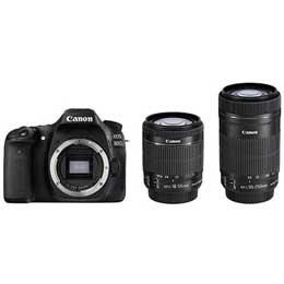 【送料無料】【即納】Canon EOS 80D ダブルズームキット デジタル一眼レフカメラ JAN末番2266