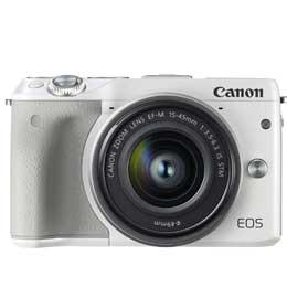 【送料無料】Canon EOS M3 EF-M15-45 IS STM レンズキット [ホワイト] デジタル一眼(ミラーレス一眼カメラ) JAN末番072259