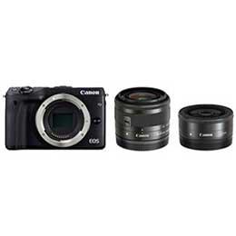 【送料無料】Canon EOS M3 ダブルレンズキット2 [ブラック] デジタル一眼(ミラーレス一眼カメラ) JAN末番072969 【店頭受取対応商品】