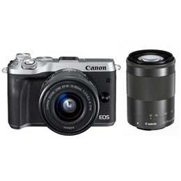 【送料無料】Canon EOS M6 ダブルズームキット [シルバー] JAN末番094268 【店頭受取対応商品】