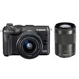 【送料無料】Canon EOS M6 ダブルズームキット [ブラック] JAN末番094220