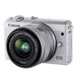 【送料無料】Canon EOS M100 EF-M15-45 IS STM レンズキット [ホワイト] JAN末番093865