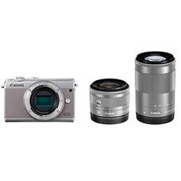 【送料無料】【即納】Canon EOS M100 ダブルズームキット [グレー]