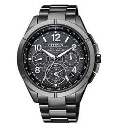 【送料無料】【即納】シチズン腕時計アテッサ エコ・ドライブ電波時計 ブラックチタンシリーズ CC9075-52F