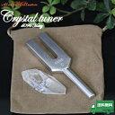 クリスタルチューナー 天然水晶 ポイント水晶 ポーチセット パワーストーン 浄化 ヒーリング 瞑想