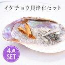 イケチョウ貝 パールシェル 浄化 セット ホワイトセージ パロサント 水晶チップ さざれ スマッジング 瞑想 …