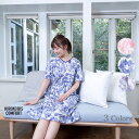 [ポイント10倍 送料無料 クーポン発行]花柄ホームドレス【HIROKO BIS COMFORT】(ルームウェア/ワンピース/ネグリジェ…