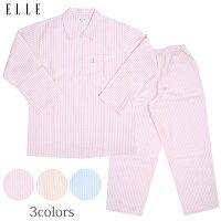 【ELLE】先染めサッカーストライプレディースパジャマ