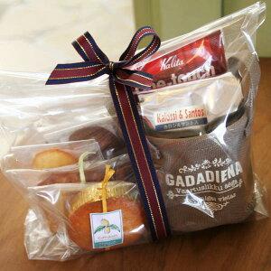 「カフェ・スイーツタイム」焼き菓子5種(和歌山産フルーツのパウンドケーキ,マドレーヌ,カップケーキ,チョコナッツクッキー)とペーパーつき本格コーヒーのギフトセット