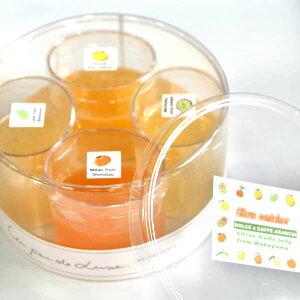 【冷凍】CITRUS CONTAINER和歌山産旬の柑橘フルーツのゼリー4種詰め合わせギフト【楽ギフ_メッセ入力】おもたせ、ギフト、プレゼント、就職・退職・合格・卒業・入学に