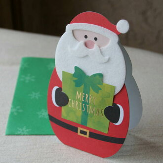 서서 장식할 수 있는 크리스마스 카드(산타클로스의 메리 크리스마스)