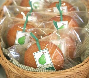 洋梨のアーモンドカップケーキ(焼き菓子)〜橋本市米本さんのラ・フランス
