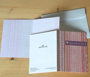 ピンクとブラウンのミニカード 【グリーティングカード・ギフトカード・メッセージカード・招待状・お祝い状・お礼状・greeting card message】【ネコポス可】