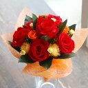"""""""congratulation""""(コングラチュレーション) 赤い薔薇のプリザーブドフラワーブーケ【楽ギフ_包装】【楽ギフ_メッセ入…"""
