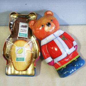 ティンベア(和歌山産柑橘フルーツと米粉チョコレートの2種類マドレーヌが入ったくまさん缶ケース・焼き菓子クリスマスプチギフト)【楽ギフ_包装】【楽ギフ_メッセ入力】