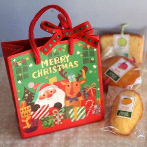 「クリスマス!ミニペーパーバッグ」和歌山産フルーツを焼き込んだ焼き菓子クリスマスプチギフト【楽ギフ_包装】【楽ギフ_メッセ入力】(マドレーヌとパウンドケーキとアーモンドカッ