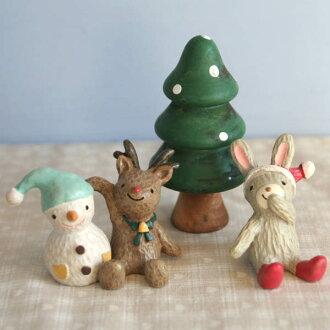 노엘 로만티카 「토끼의 크리스마스」(토끼・순록・트리・스노우 맨 4점 세트)