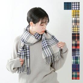 """【クーポン対象】【最大28倍】【2020aw新作】Scottish Tradition(スコティッシュ トラディション)アンゴラウ—ル ラモーラ チェックマフラー1""""WOVEN SCARF"""" woven-scarf-yn"""