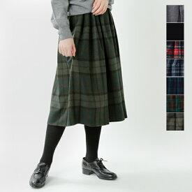 【2019aw新作】O'NEIL OF DUBLIN(オニールオブダブリン)aranciato別注 ウールブレンドタックチェックスカート s265wp-rf