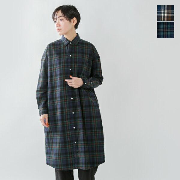 【20%OFF】Gymphlex(ジムフレックス)60/2ビエラ起毛チェックロングシャツ j-1176vhc-tr