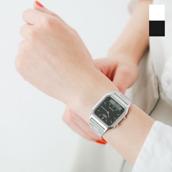 CASIO(カシオ)アナデジ デュアルタイム 腕時計 aq-230a-rf