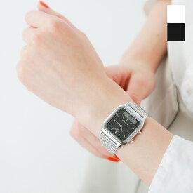 【最大37倍】CASIO(カシオ)アナデジ デュアルタイム 腕時計 aq-230a-rf