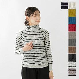 【2019aw新作】mao made(マオメイド)ワッフル編みタートルコットンニットプルオーバー 631102-yh