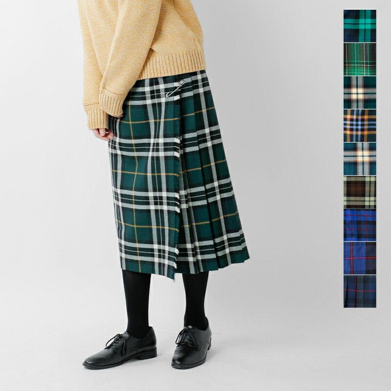 【2018aw新作】O'NEIL OF DUBLIN(オニールオブダブリン)aranciato別注 ウールプリーツ巻きスカート 5073w-tr