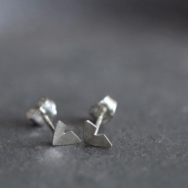 """■【最大45倍】Kaylin Hertel(ケイリン・ハーテル)シルバーピアスS""""Silver Origami Earrings"""" ps-01-mk"""