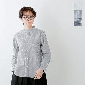 【クーポン対象】【2019aw新作】RINEN(リネン)100/2ブロードコットンスタンドカラーシャツ 36011-mm
