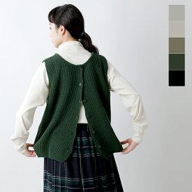 【2020aw新作】mao made(マオメイド)シャペウ2wayウール畔編みニットベスト 041152o-rf
